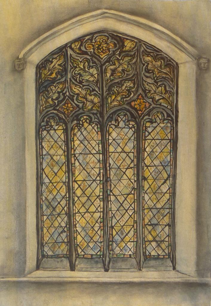MICHAELHOUSE STUDY, WEST WINDOW watercolour & ink on paper 65 x 50 cm