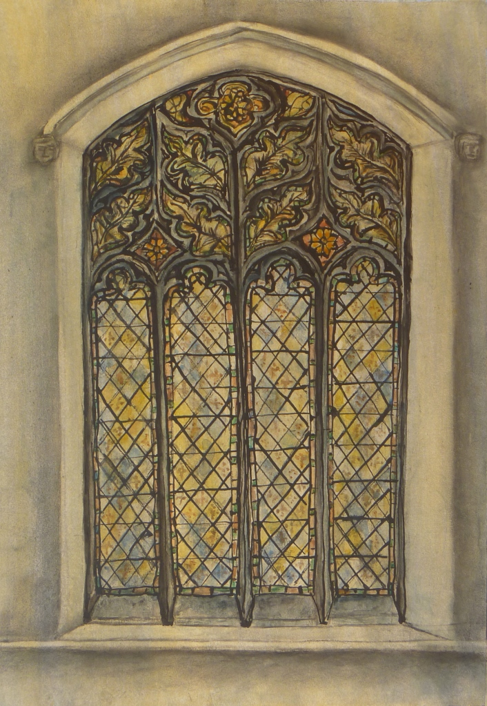 MICHAELHOUSE STUDY, WEST WINDOW  watercolour, Indian ink on paper 65 x 50 cm