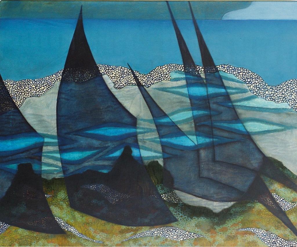 NEAP TIDE oil, graphite, pastel on canvas 100 x 120 cm
