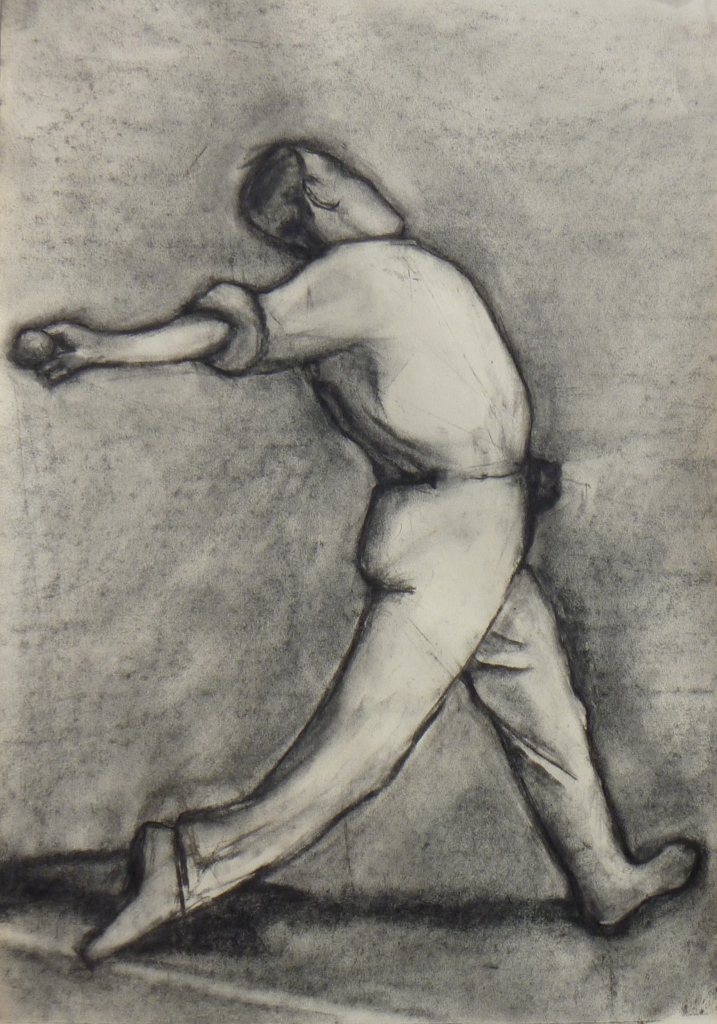 BOWLER charcoal on paper 60 x 50 cm