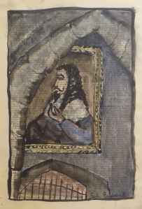 MICHAELHOUSE STUDY, CHARLES I watercolour, Indian ink on paper 23.5 x 16 cm