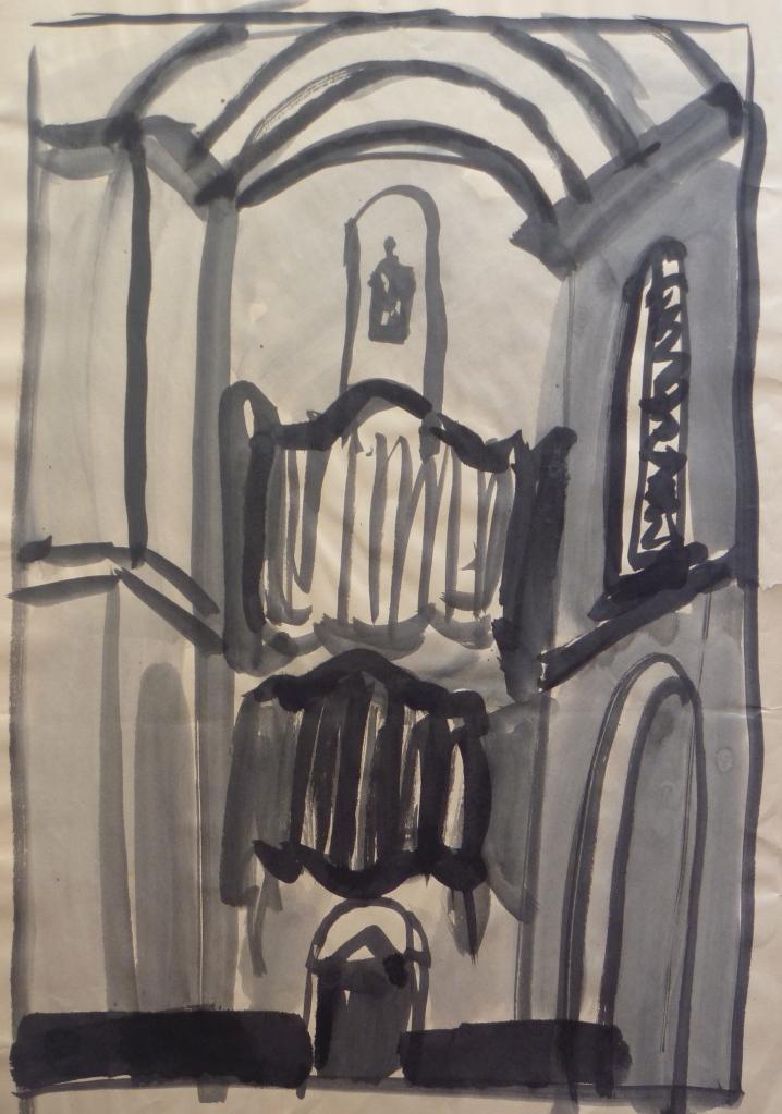 Westerkerk, Amsterdam Indian Ink on paper 60 x 40 cm
