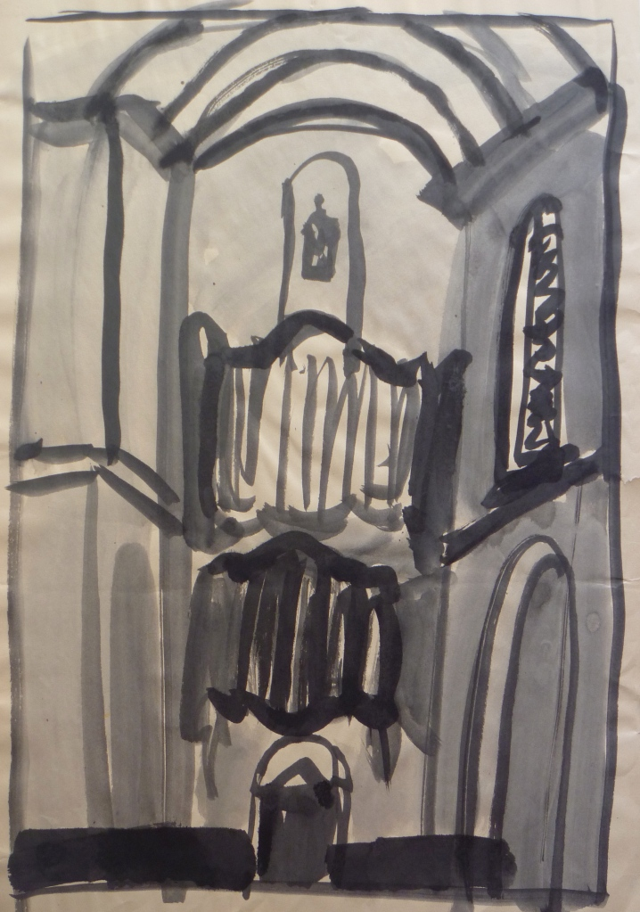 Westerkerk, Amsterdam Indian Ink on paper 60 x 40 cm