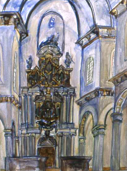 WESTERKERK oil on canvas 60 x 50 cm