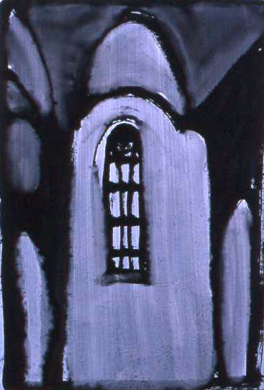 WESTERKERK oil on paper 30 x 24 cm