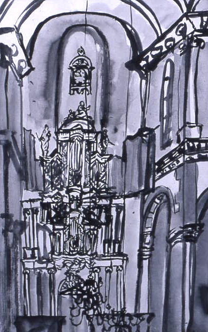Westerkerk ink drawing