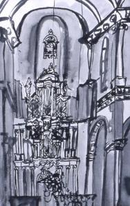 Westerkerk ink drawing 50 x 40 cm