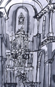 Westerkerk ink drawing 50 x 40 cm