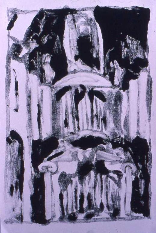 WESTERKERK monotype 60 x 50 cm