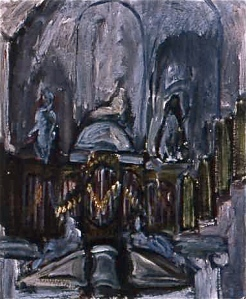 Westerkerk Organ (oil study)