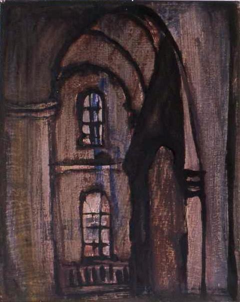 WESTERKERK ink & oil on paper 32 x 26 cm