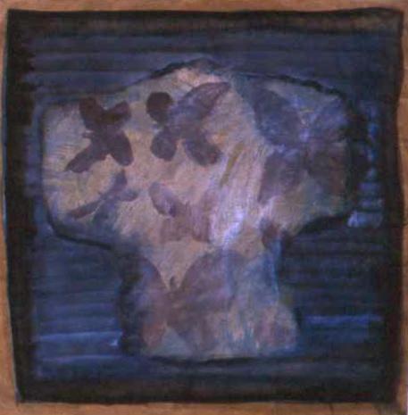 CASABLANCA (BETWEEN THE LIGHT)  ink & acrylic on paper  72 x 70 cm