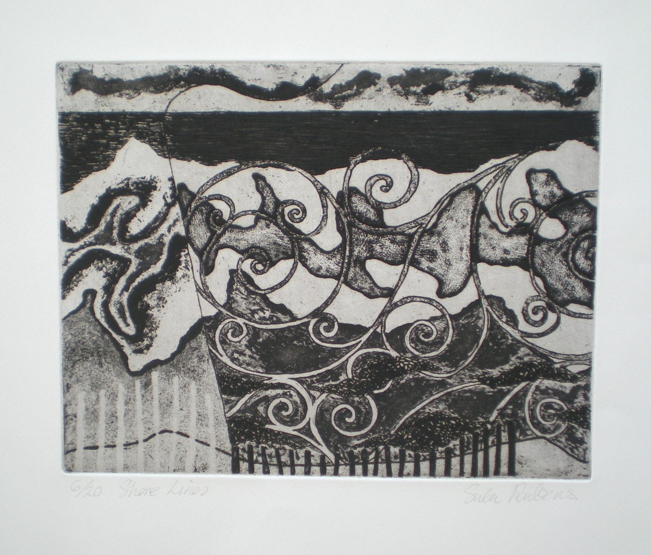 SHORE LINES etching