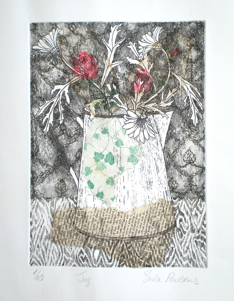 JUG etching (chine colle) 30 x 22 cm
