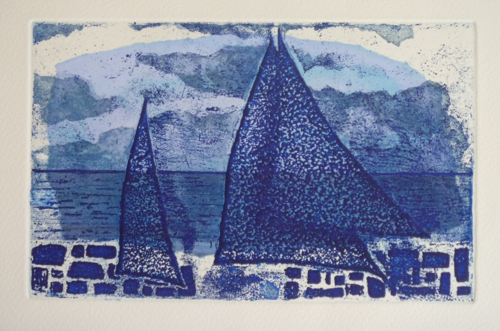 DONOUSSA QUAY etching (chine colle)
