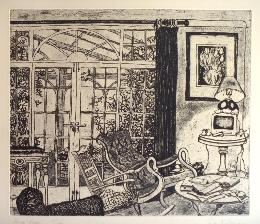 PRUE'S ROOM  etching