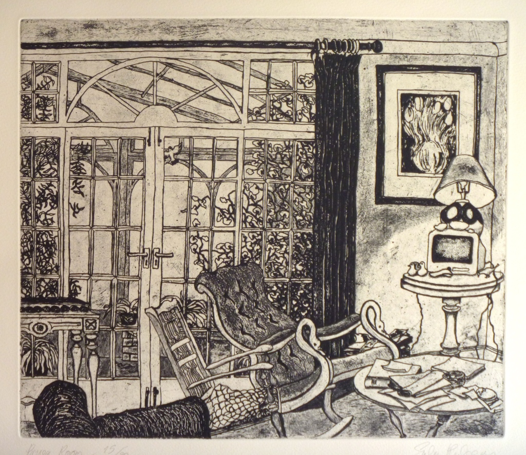 PRUE'S ROOM  etching