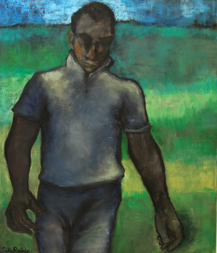 PLAYER oil on canvas 70 x 60 cm