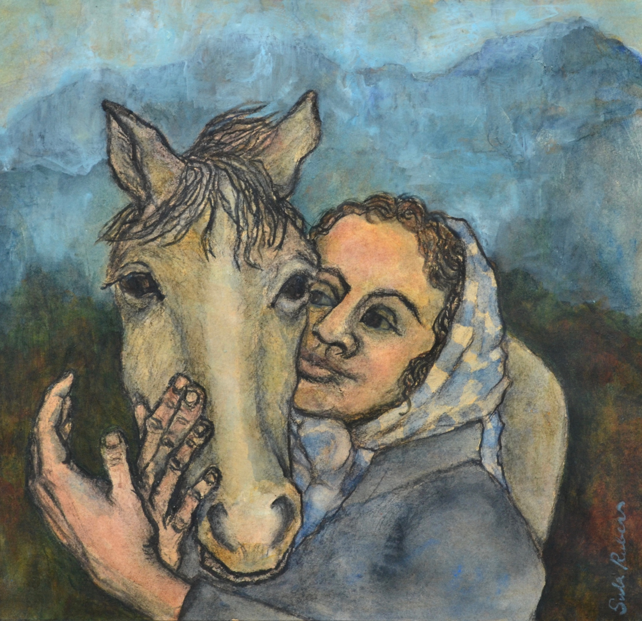 Mountain Girl with Horse